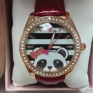 Luv Betsey by Betsey Johnson Panda Watch NWB